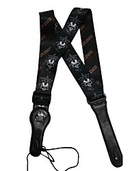 Soldier - (Cross Skull) Sangle cuir de bovin pour guitare / basse
