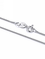 "Italy S925 Sterling Silver Box Chain 16"" 18"" 20"" Available Nickle Free"