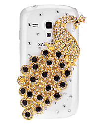 Bling Bling Павлин Дизайн Футляр с горный хрусталь для Samsung Galaxy S3 Мини I8190