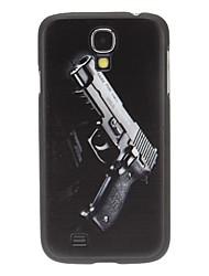 Arma de mano dura del caso del patrón para Samsung i9500 Galaxy S4