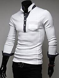 Masculinas Contrato Cor suporte T-Shirt Polo Collar