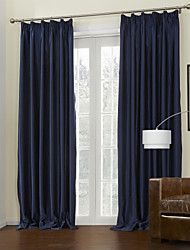 (Two Panels) Modern Blue Energy Saving Curtain
