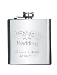 Gift Groomsman Personalized Stainless Steel 6-oz Flask - Our Big Day