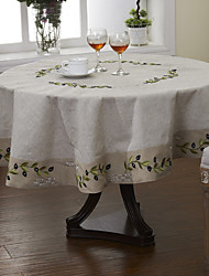 Beige / As per picture Linen Round Table Cloths