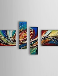 Hand Painted Oil Painting Abstract Set of 4 1307-AB0471