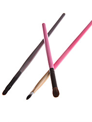 3PCS Eyeshadow Brush * 2 e Lip Brush * 1