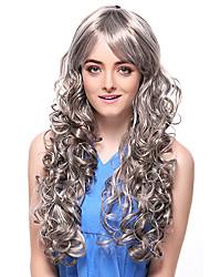 Capless Tope Grade Qualität synthetischen extralange Curly Graues Haar Perücken