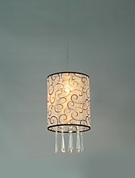 European-Style Characteristic 1 Light Pendant with Fabric Shade