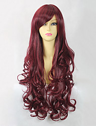Wine Red 70cm Lolita Gothic Lockenperücke