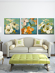 Stretched Canvas Art Floral Spring Set of 3