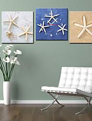 Orologio da parete moderno solido stile in tela 3pcs