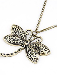 Mode legering met Dragonfly Shaped hanger Trui Chain Women's Necklace