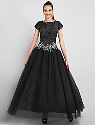 TS Couture Prom Formal Evening Military Ball Dress - Little Black Dress Ball Gown Princess Jewel Ankle-length Taffeta Tulle withAppliques