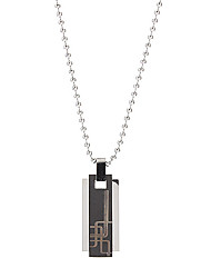 Fashion Titanium Steel Rectangular Man Necklace Christmas Gifts