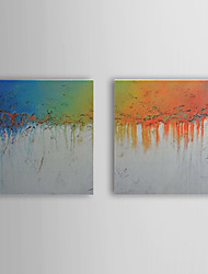 Hand Painted Oil Painting Abstract Set of 2 1307-AB0491