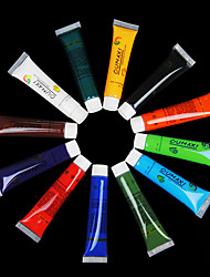 12-Color Nail Art UV Gel Tubes Set