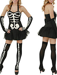 Terrorist Skeleton Black Women's Holloween Costume