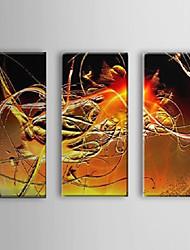 Peint à la main Peinture à l'huile abstraite avec cadre étiré Ensemble de 3 1307-AB0438