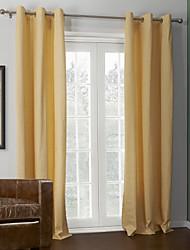 (Dos paneles) recubrimiento sólido brillante cortina térmica