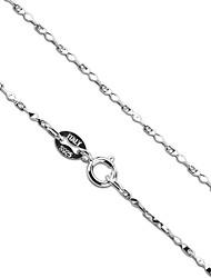 excellent design 925 collier chaîne stéréo triangle argent