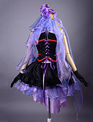 Inspired by Macross Frontier Sheryl Nome Anime Cosplay Costumes Cosplay Suits / Dresses Patchwork Purple SleevelessDress / Headpiece /