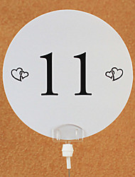 Place Cards and Holders Hearts Table Number Card (set of 10)