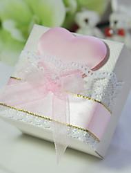 Cuboid boîte de faveur de coeur avec ruban - Lot de 6 (plus de couleurs)