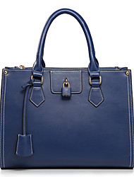 Nucelle Buckle balançant en cuir de vache Dual Purpose Blue Bag