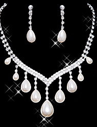 Jewelry Set Women's Anniversary / Wedding / Engagement / Birthday / Gift / Party / Special Occasion Jewelry Sets AlloyImitation Pearl /