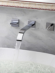 Personalized Bathroom Sink Faucet Contemporary Widespread style (Wall Mount)