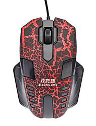 X9 High Definition Optical Wheel Gaming Mouse With Fissure Print(1000DPI)