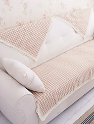 Cotton Houndstooth Lace Sofa Cushion Mats 70*180