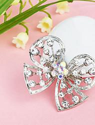 Frauen Schmetterling hohlen versilbert Strassbrosche