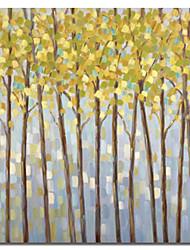 Натянутым холстом искусств Ботанический желтые деревья