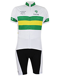Kooplus2013 Campeonato Jersey Austrália poliéster e Lycra e tecido elástico Ciclismo Suits (T-shirt + calça)