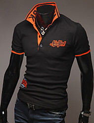 Unique Collar Embroidery Polo Shirt