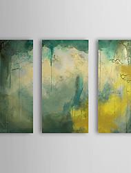 Peint à la main Peinture à l'huile abstraite avec cadre étiré Ensemble de 3 1308-AB0710