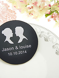 Personalized  Silhouettes Wedding Coasters-Set of 4(More Colors)
