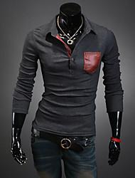 Leather Pocket tapeta solapa Polo T-Shirt