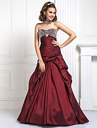 Prom/Formal Evening/Quinceanera/Sweet 16 Dress - Burgundy Plus Sizes Ball Gown/A-line/Princess Sweetheart Floor-length Taffeta
