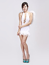 Hot White Spandex With Wings Angle Kostüme (3 Stück)