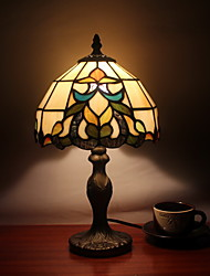 25W Tiffany Glass Table Light with Metal lamp stand