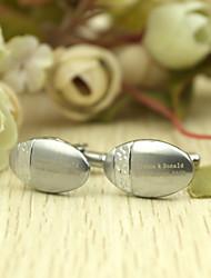 Cufflinks Oval personalizados em caixa Gife Rosa