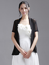 Wedding  Wraps Coats/Jackets Short Sleeve Lace / Tulle Black Party/Evening / Casual 30cm T-shirt Open Front
