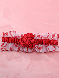 Chinese style Tulle With Flower Wedding Garter