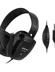 Stereo Music USB2.0 On-Ear Headphone with Mic DM-3800 (Black)