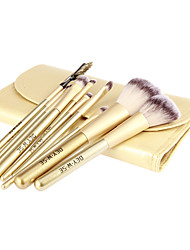 10Pcs High Quality Golden Wool Brush Set