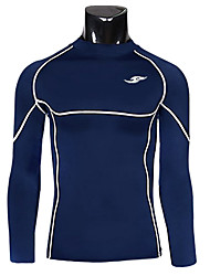 Men's Skintight Breathability Quick Dry Long Sleeve Training Tops(Blue)