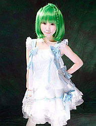 Macross Frontier ~ Vuelo Interestelar ~ Ranka Lee White VER. Traje Cosplay