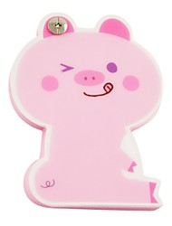 Pink Pig Pattern Cover Nail Fixed Notepad
